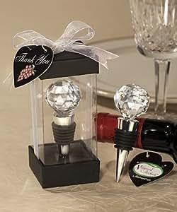 Wine Bottle Stoppers Vineyard Collection Crystal Ball Design (12 per order) Wedding Favors