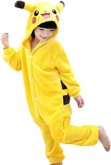 Talla 110-5/6 años - Disfraz - Pijama de una Pieza - Pikachu ...