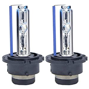 ICBEAMER 30000K D2S D2C D2R Xenon Factory HID Replace Philip Osram OEM Headlight Low beam Light bulbs Color Dark Blue