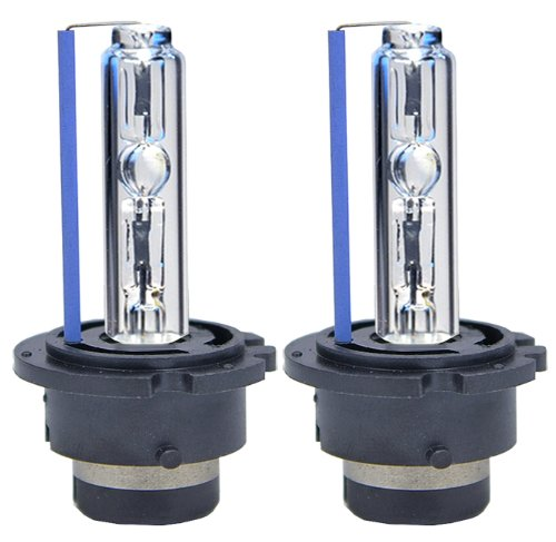 ICBEAMER 8000K D2S D2C D2R Xenon Factory HID Replace Philip Sylvania Osram OEM Headlight Low Beam Light Bulbs Color: Lig