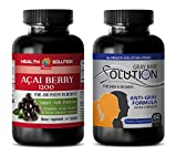 Product review for rejuvenation cleaner - ACAI BERRY - GREY HAIR SOLUTION - nettle leaf - 2 Bottles Combo 120 Capsules