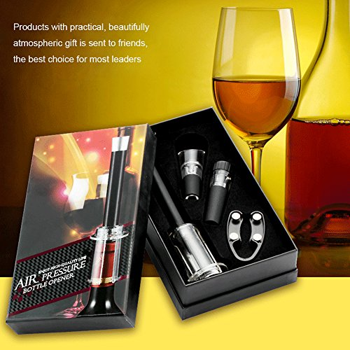 4PCS/Set Air Corkscrew, Tubwair Air Pressure Wine Opener Quick Pneumatic Tumbler Easy Remover Wine Cork Out Tool, Perfect Gift and for All Wine Lovers by Tubwair (Image #7)