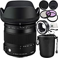 Sigma 17-70mm F2.8-4 DC Macro OS HSM Lens Kit for Canon Digital Cameras