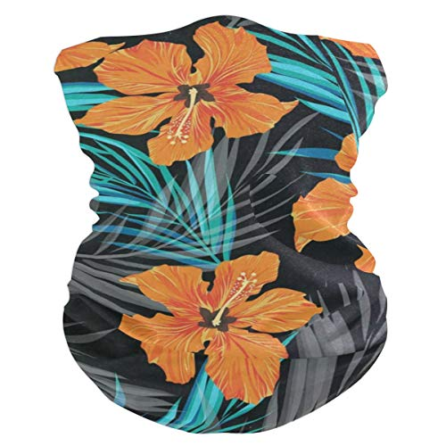 Tropical Hawaiian FlowersHeadband Womens Bandana Mens Balaclava,Neck Warmer,Face Mask,Collars Hatliner