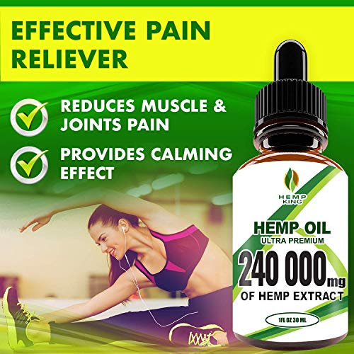 51gXJDlmHBL - Hemp Oil Drops 240 000 mg, 100% Natural Extract, Anti-Anxiety and Anti-Stress, Natural Dietary Supplement, Rich in Omega 3&6 Fatty Acids for Skin & Heart Health, Vegan Friendly