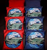 Custom US Navy Ship Air force Military 8 ACA regulation Cornhole bags game B37