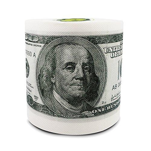 Minch Hundred Fake Money Toilet Paper- Dollar Bill Toilet Paper Roll Bathroom-Novelty Funny Toilet Paper