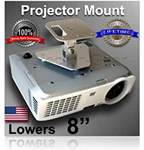 """Projector-Gear Projector Ceiling Mount for OPTOMA HD20-LV with 8"""" Extension"""