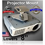 """Projector-Gear Projector Ceiling Mount for EPSON PowerLite Home Cinema 3020e with 8"""" Extension"""
