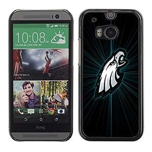 Filadelfia Águila - Metal de aluminio y de plástico duro Caja del teléfono - Negro - HTC One M8