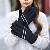 Taco Mocho New Couple Outdoor Sports Skiing Gloves Men/Women Cycling Winter Plush Keep Warm Windproof Ride Moto Reflective Strip Gloves