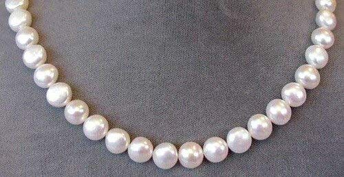 Creamy White 9mm to 10mm Button FW Pearl Strand for Jewelry Making -