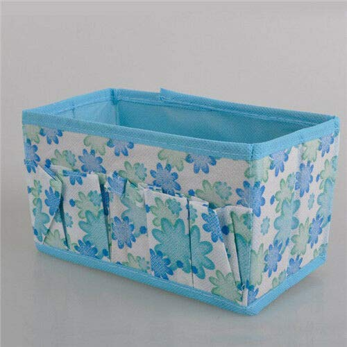 (Fashion Folding Multifunction Makeup Cosmetic Storage Box Container Jewelry bag (Color - Blue))