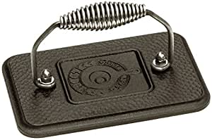 Lodge LGP3 Rectangular Cast Iron Grill Press, Pre-Seasoned, 6.75-inch x 4.5-inch