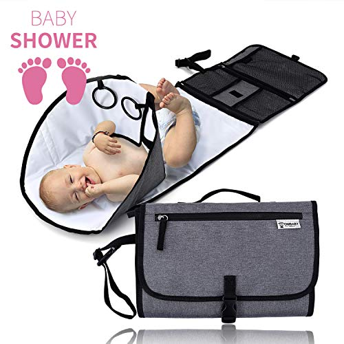 Portable Changing Pad, New Upgrade Baby Diaper Changing Mat, Diaper Travel Changing Station, Diaper Mat for Infant Toddler Newborn Boys & Girls, Baby Products