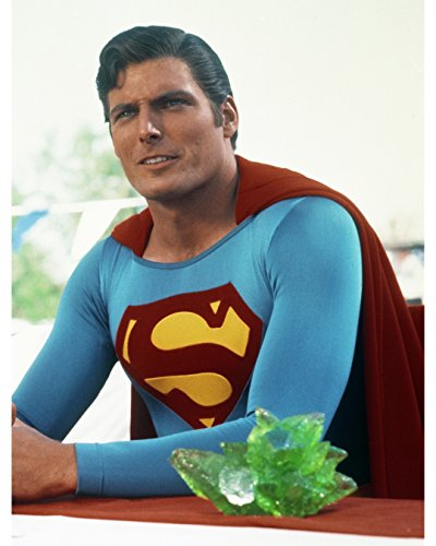 Globe Photos ArtPrints Christopher Reeve Sitting In Superman Costume - 8