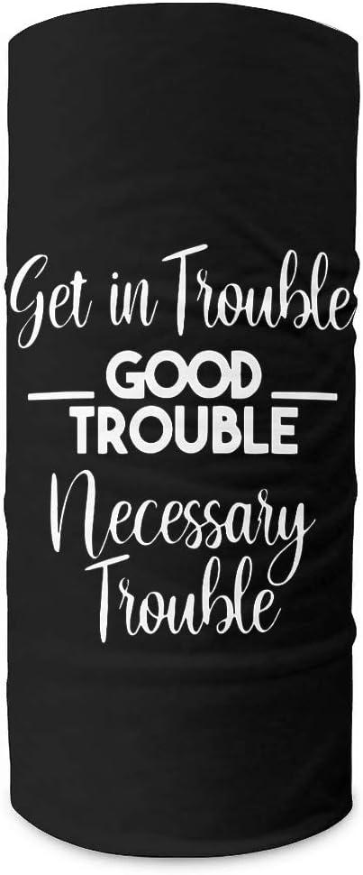 CCMugshop Bandana para la cara con texto Get in Trouble Good Trouble Print