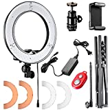 Photo : Neewer Ring Light 14-inch LED with Light Stand 36W 5500K Lighting Kit with Soft Tube,Color Filter,Hot Shoe Adapter,Bluetooth Receiver for Makeup,Camera Smartphone Youtube Video Shooting