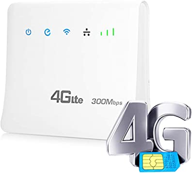 XMAGG® Routeur 4G LTE Wi FI N300Mbps CPE Mobile Router with