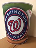 PlayAction MLB Washington Nationals 3D Hologram Graphic Trash Can, Waste Basket, , Red