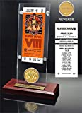 "NFL Miami Dolphins Super Bowl 8 Ticket & Game Coin Collection, 12"" x 2"" x 5"", Black"