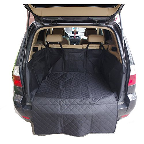 Nonslip Waterproof Dog Car Cargo Cover Dog Cargo Liner Pet Car SUV Trucks Cargo Liner Seat Cover Protection Mat with Pocket 130x105cm