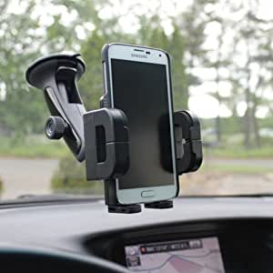SELNA Multi-angle Rotating Car Windshield Mount Air Vent Phone Holder for US Cellular Samsung ATIV Odyssey - US Cellular Samsung Axiom - US Cellular Samsung Galaxy Mega SCH-R960 - US Cellular Samsung Galaxy Metrix 4G
