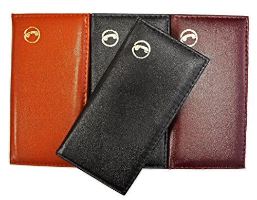 (Slim Pocket Traditional Leather-Look Vinyl Address Phone Book, 6.5