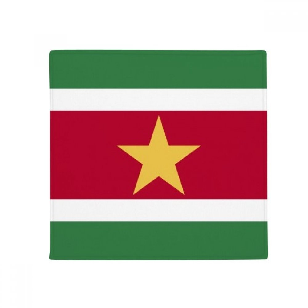 60X60cm DIYthinker Suriname National Flag South America Country Anti-Slip Floor Pet Mat Square Bathroom Living Room Kitchen Door 60 50Cm Gift