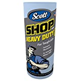 Scott 32992 Pro Shop Towels, Heavy Duty, 1-Ply, Blue, 10 2/5'' x 11'' (Case of 12 Rolls)
