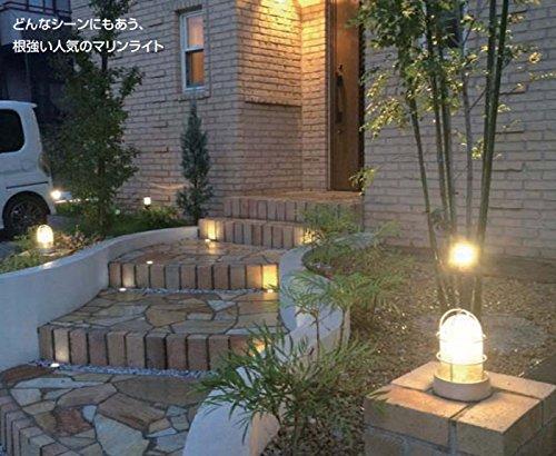 ガーデンライト 庭園灯 屋外 LED 照明 門柱灯 門灯 デッキライトシリーズ マリンライト 100V デッキタイプ LED電球 電球色 /シャインゴールド B0765WGFWQ 25920 シャインゴールド シャインゴールド