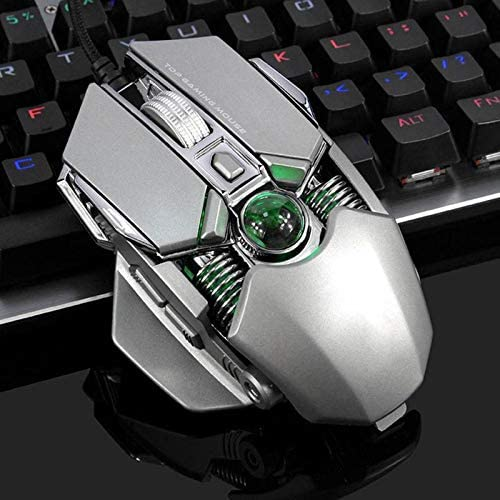 G4 RGB Gaming Mouse USB Wired 9 Buttons 5 Colors Backlight 2750 Adjustable DPI Optical Mice for PC Computer Mouse Sala-Deco
