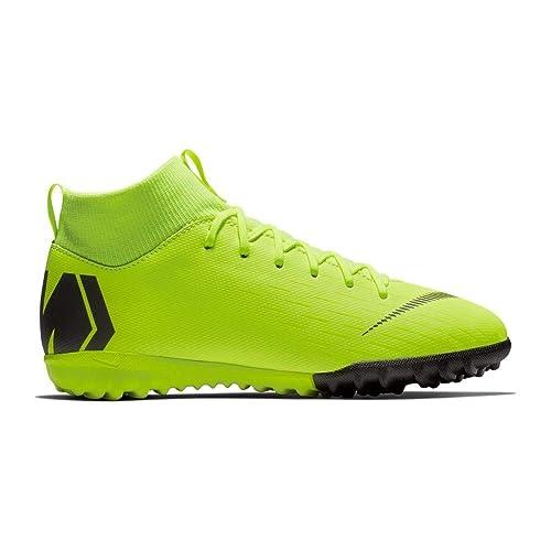 best website 8cdd4 4b2df Botas de Futbol NIKE JR Mercurialx Superfly 6 Academy GS Turf (33 EU,  Voltio) Amazon.es Zapatos y complementos
