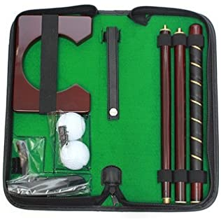 Amazon.com: Maxam Maxam Portable madera de cerezo Putter Set ...