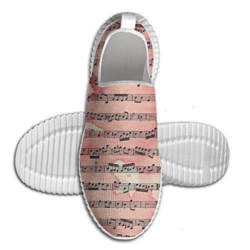 Muzieknoot Muziek Sport Loopschoenen Art Unisex Brede Tennis Sneakers Voor Tienerjongens Wit