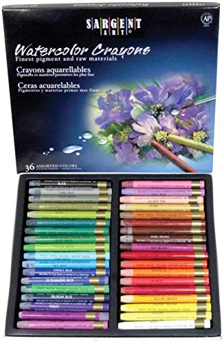 Sargent Art 22-1136 Artist Quality 36 Premium Watercolor Crayons by Sargent Art