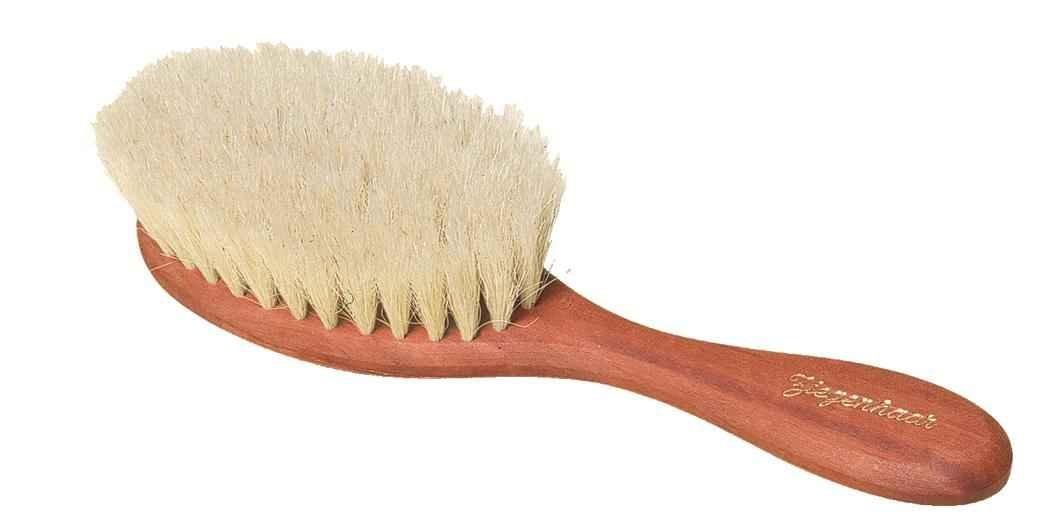 """Baby Haarbürste, super weiches Ziegenhaar! die richtige """"Schmusebürste für Babys, bis 1 Jahr Baby Haarbürste Redecker"""