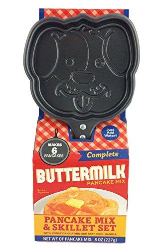 Animal Shaped Non Sitck Skillet Buttermilk Pancake Maker Gift Set (Dog)