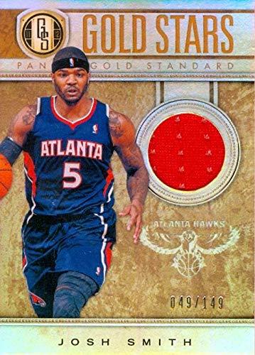 Josh Smith player worn jersey patch basketball card (Atlanta Hawks) 2012 Panini Gold Stars #25 LE ()