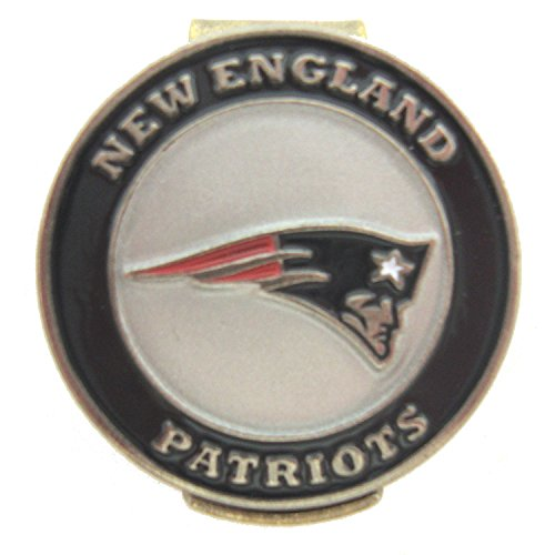 Waggle Pro Shop New England Patriots Golf Hat Clip with Double Sided Ball ()