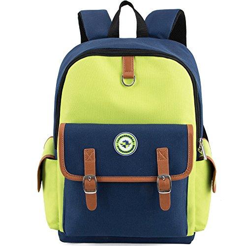 HITOP Elementary School Backpack Bookbags Waterproof Cute Lightweight School Bag For Boys Girls (Yellow, Large)