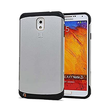 Exoic81 Tough SlimArmor Back Case for Samsung Galaxy Note 3  N9000    Silver Mobile Accessories