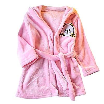 LNGRY Baby Coat,Toddler Newborn Kid Girls Boys Cartoon Cat Hooded Bathrobe Towel Pajamas Sleepwear Clothes