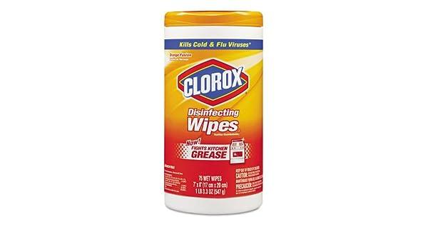 Clorox desinfección toallitas húmedas, Naranja aroma, 7 x 8, 75/Canister, 6 botes/Carton: Amazon.es: Electrónica