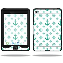MightySkins Protective Vinyl Skin Decal for Lifeproof Apple iPad Mini 4 Case nuud Case wrap cover sticker skins Teal Designer
