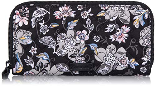 Vera Bradley Women's Protection Signature Cotton RFID Georgia Wallet, Imperial Rose, One Size