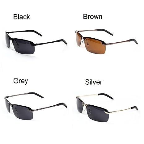 Oath _ Lied Herren Randlos Metall Rahmen, rechteckig, 65mm Polarisierte Sonnenbrille