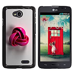 Planetar® ( Pink Plastic Grey Pattern Symbol Wool ) LG Optimus L70 / LS620 / D325 / MS323 Fundas Cover Cubre Hard Case Cover