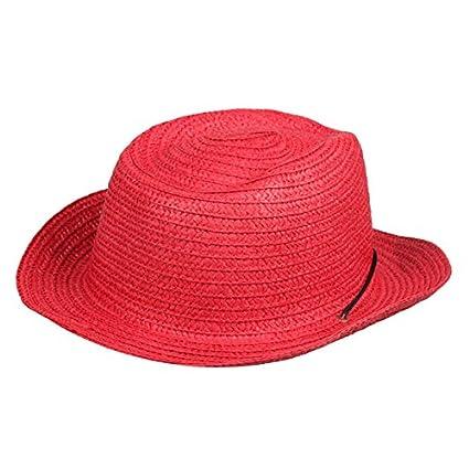 Matedield Children Straw Braid Cowboy Sun Hat Boy Girl Cap Star Applique Topee