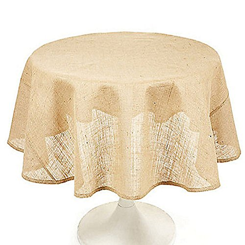 Tablecloth Burlap Natural Round 36 Inch By Broward Linens